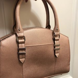 Rose Gold petite purse with cross body strap